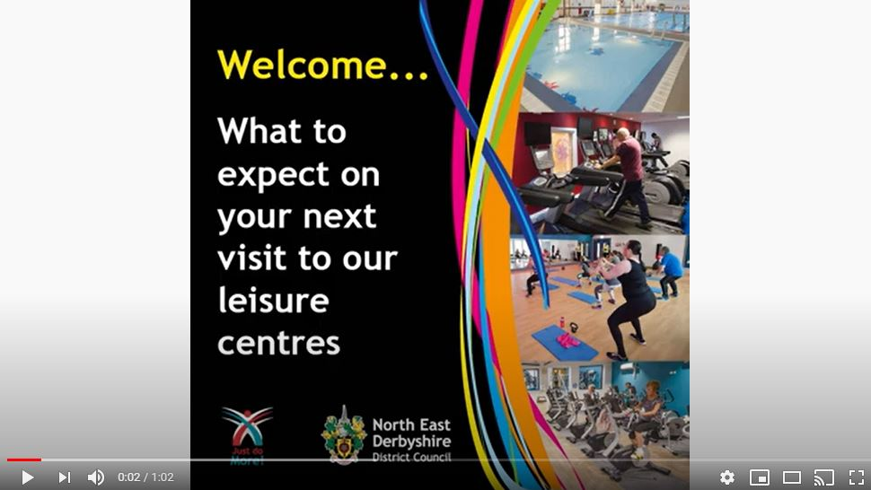 Watch the 'Leisure Centres - What to expect' video on YouTube