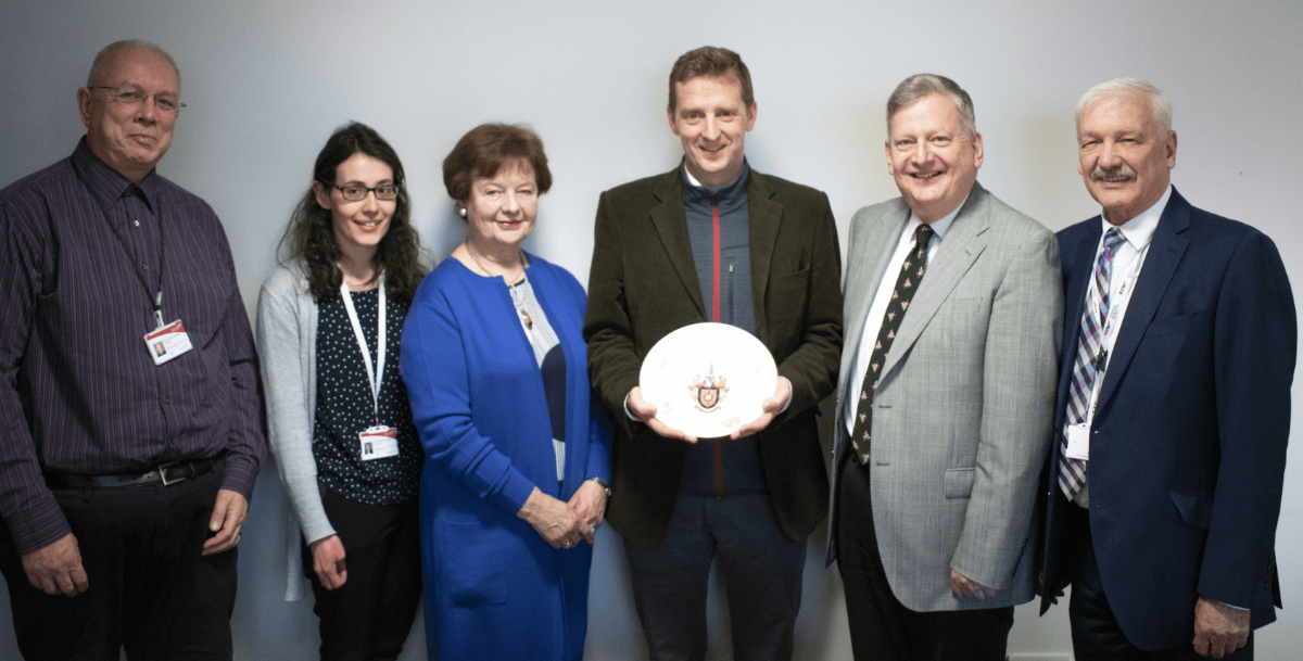 High Sheriff being presented with the Council's Civic Plate