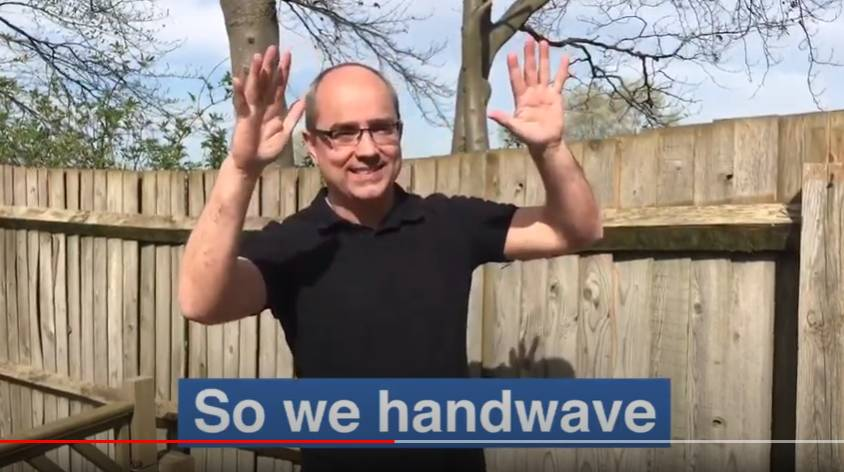 Watch the 'Handwave for key workers' video on YouTube