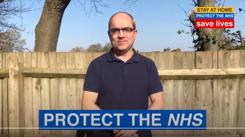 Watch th 'Save Lives, stay Home, Protect the NHS' video on YouTube