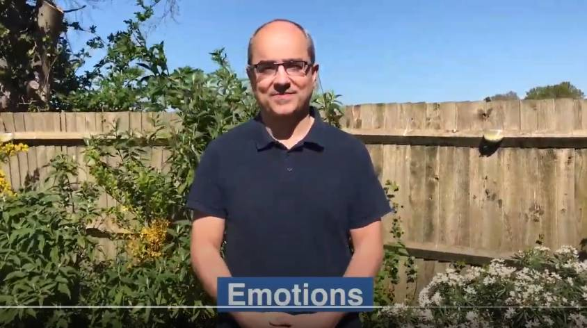 Watch the 'Learn how to sign emotions using BSL' video on YouTube